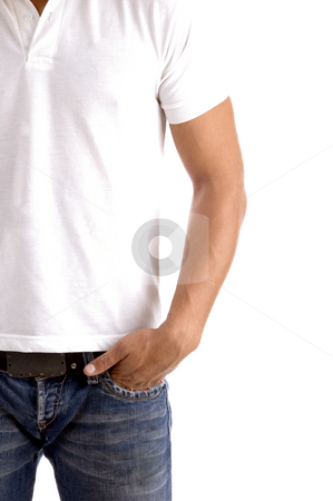 Body part of male model stock photo, Body part of male model on an isolated white background by Imagery Majestic