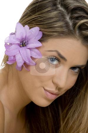 Portrait of charming blonde model stock photo, Portrait of charming blonde model by Imagery Majestic