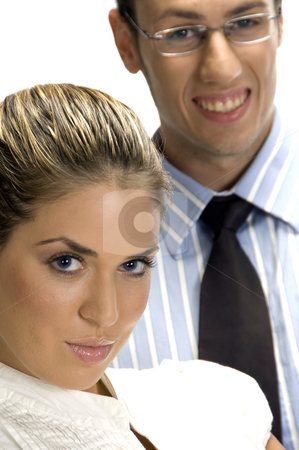 Close up of young partner stock photo, Close up of young partner with white background by Imagery Majestic