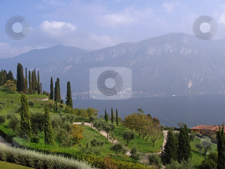 The City of Bellagio on Lake Como in Italy stock photo, The city of Bellagio overlooking the famous Lake Como in the Italy. by Alan G