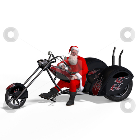Render of Santa Claus - Merry Xmas stock photo, Render of Santa Claus - Merry Xmas. Image contains clipping path by Ralf Kraft