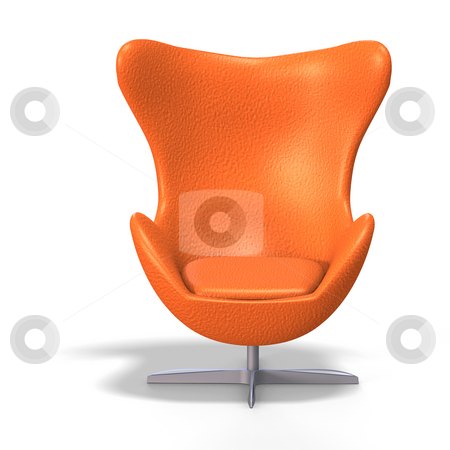 Egg chair stock photo, Funky egg chair from the 70s with Clipping Path by Ralf Kraft