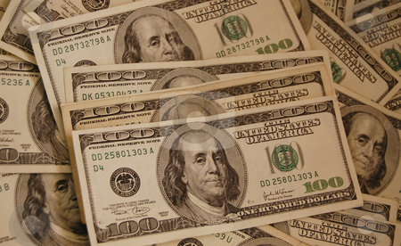 United States Currency stock photo, A large group of one hundred dollar bills by Crystal Srock
