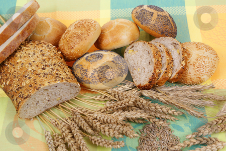Breads stock photo, Variable types of bread and rolls as background by Jolanta Dabrowska