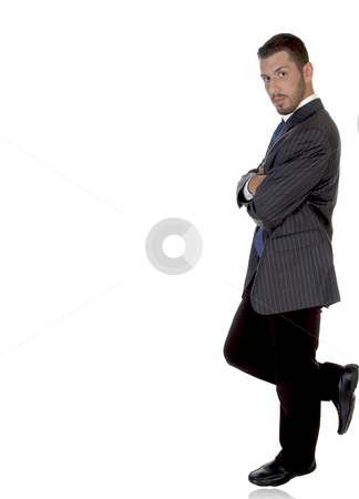 Stylish pose of american businessman stock photo, Stylish pose of american businessman on an isolated background by Imagery Majestic