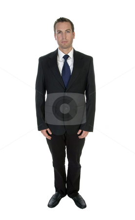 Young attractive businessman posing stock photo, Young attractive businessman posing on an isolated background by Imagery Majestic
