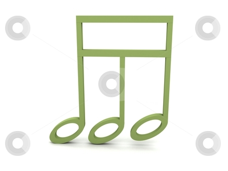 View of three dimensional green musical clef note stock photo, View of three dimensional musical clef note in green color by Imagery Majestic