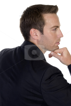 Young businessman posing stock photo, Young businessman posing with white background by Imagery Majestic