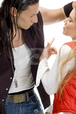 Couple in sensual pose stock photo, Couple in sensual pose close to each other by Imagery Majestic