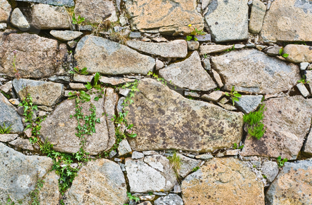 Stone Wall stock photo, A stone wall showing much detail and texture by Stephen Bonk