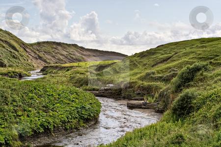 Stream in Ireland stock photo, A stream in rolling hills of Ireland by Stephen Bonk