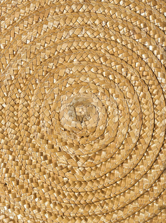 Wicker Background stock photo, A spiraling wicker background showing detail, patterns, and texture by Stephen Bonk