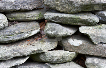 Stacked Rocks stock photo, Large rocks stacked on top of each other. by Stephen Bonk