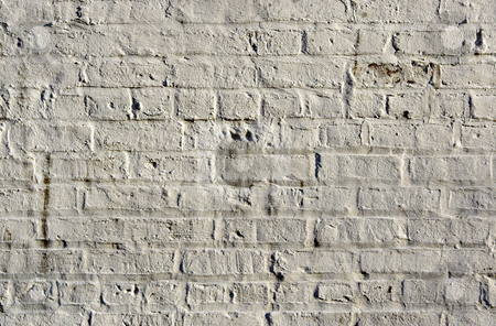 White Brick Background stock photo, White brick wall showing detail, patterns, and texture by Stephen Bonk