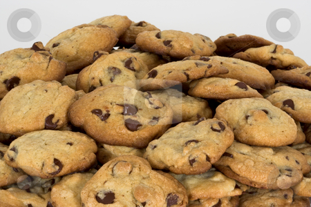Fresh Baked Cookies stock photo, Fresh Baked Chocolate Chip Cookies by Stephen Bonk
