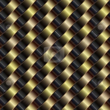 Metallic pattern stock photo, Seamless texture of woven metallic diagonal stripes by Wino Evertz