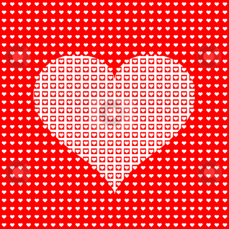 Heart pattern stock photo, Many heart shapes in a large heart by Wino Evertz