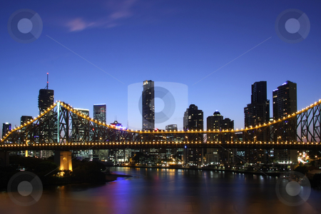 Nightlights stock photo, Nightlights of Brisbane  Australia by Thomas Sztanek
