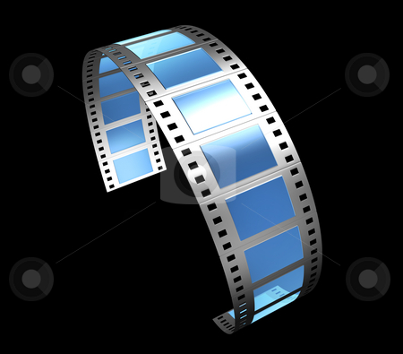 Filmstrip stock photo, 3d, filmstrip, film, strip transparent with reflection and glass by Fabian Kerbusch