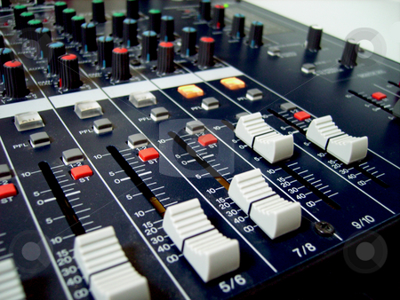 Audio Mixer stock photo, An audioboard mixer with shallow depth of field by Tudor Antonel adrian