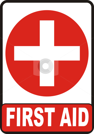 First Aid Sign stock vector clipart, First Aid symbol isolated on white background by Tudor Antonel adrian