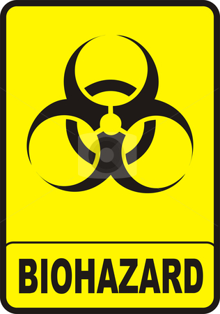 Biohazard Sign stock vector clipart, Vectorial image biohazard warning color sign with yellow background by Tudor Antonel adrian