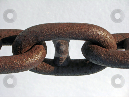 Old Strong Chain  stock photo, A section of very strong chain by Tom and Beth Pulsipher
