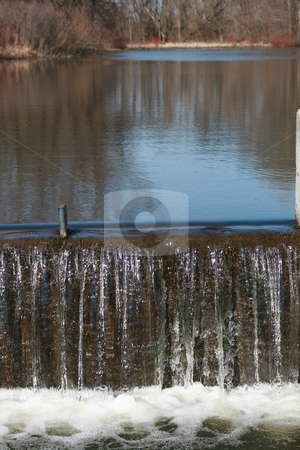 Waterfall stock photo, Water over the dam by Tom and Beth Pulsipher