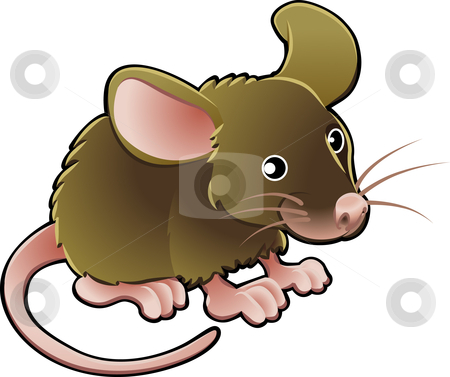 Cute Mouse Vector Illustration stock vector clipart, A vector illustration cute little brown mouse by Christos Georghiou