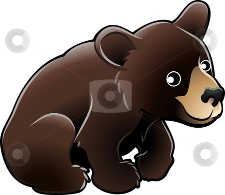 American Black Bear Cute Vector Illustration stock vector clipart, Vector Illustration of a cute American Black Bear by Christos Georghiou