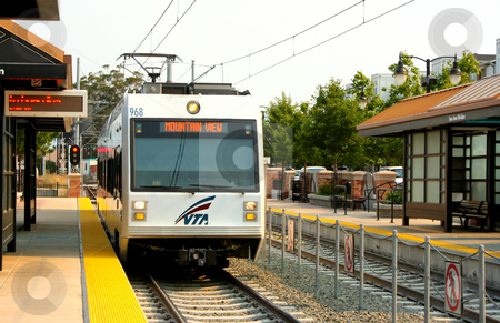 Light Rail, San Jose, CA stock photo, Light rail train in San Jose, CA by Thomas Marchessault