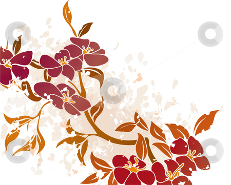 Floral Grunge Background Vector stock vector clipart, An vector illustration of a floral grunge background by Christos Georghiou
