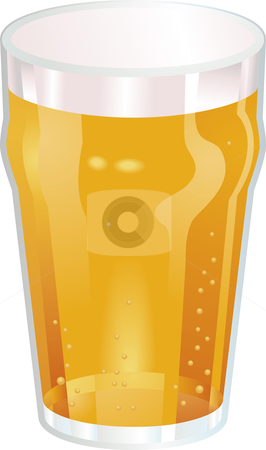 A Nice Pint of Beer Vector Illustration stock vector clipart, A Vector illustration of a Nice Pint of Beer by Christos Georghiou