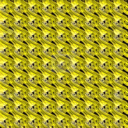 Metallic curves pattern stock photo, Seamless texture of regular golden 3d curves by Wino Evertz