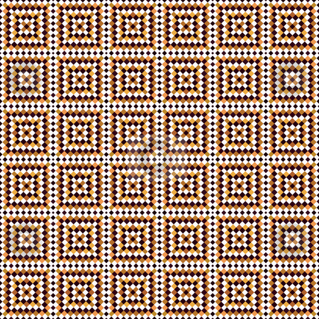 Fresco tiles pattern stock photo, Seamless texture of brown and white tiles in arabic style by Wino Evertz