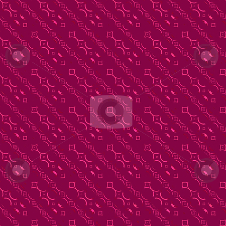Red diagonal pattern  stock photo, Abstract seamless texture of abstract ornamental shapes on red by Wino Evertz