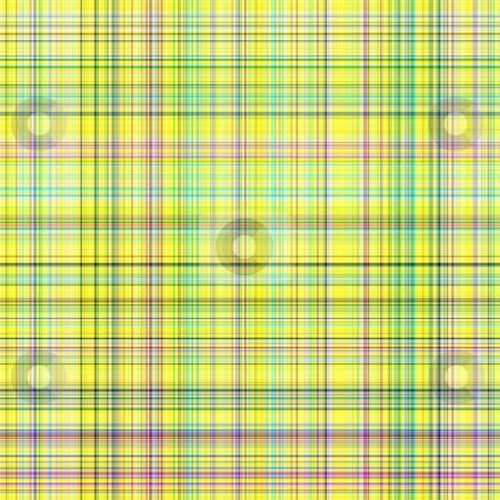 Light tartan pattern stock photo, Seamless texture of detailled woven tartan in bright yellow by Wino Evertz