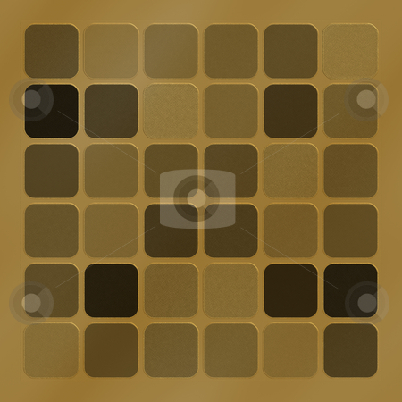 Copper squares pattern stock photo, Texture of different metallic copper structured squares by Wino Evertz