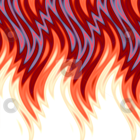 Hot Flames Background stock photo, Hot flames background. by Todd Arena
