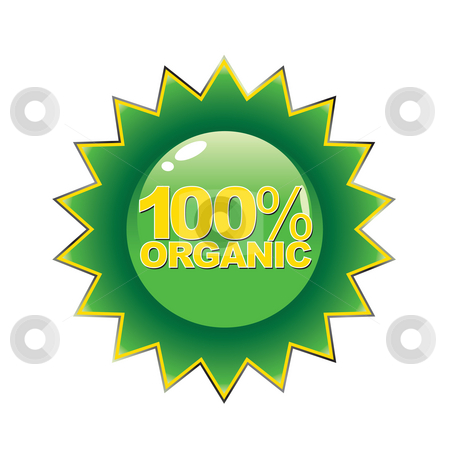 Organic Seal stock photo, An emblem that ensures the customer that the product is 100 percent organic. by Todd Arena