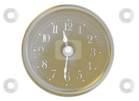 Gold Clock stock photo, High Contrast Clock by Todd Arena