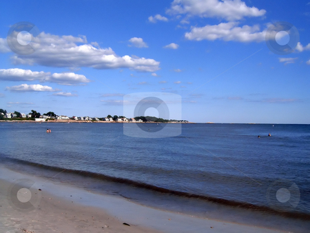 CT Shoreline stock photo, A nice day at a CT beach. by Todd Arena