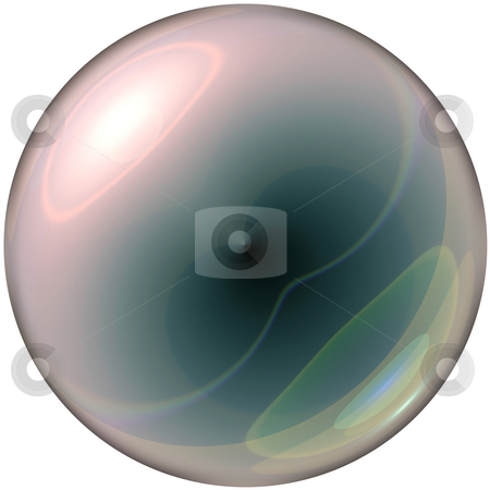 Clear glass sphere stock photo, Glass ball / sphere by Todd Arena