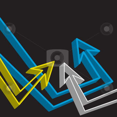 Funky Arrows Layout stock photo, A funky urban layout with graffiti style arrows. by Todd Arena