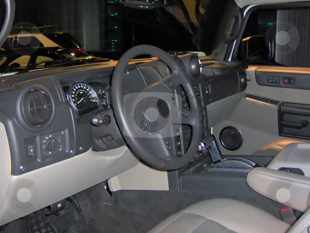 Truck Interior stock photo, The interior of a modern luxury SUV. by Todd Arena