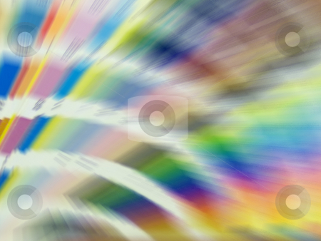 Colorful Blur stock photo, A nice blur of some pantone color swatches. by Todd Arena