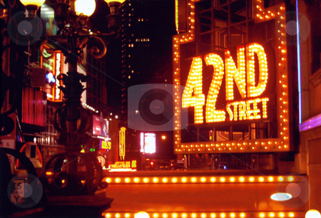 42nd Street - Times Square stock photo, This is near broadway on 42nd street in new york city. by Todd Arena