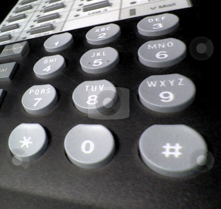 Phone Buttons stock photo, A closeup of my desk phone at work. by Todd Arena