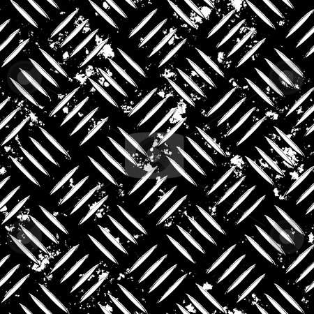 Grunge Diamond Plate stock photo, Diamond plate metal texture  for an industrial or contruction theme. Fully tileable - this tiles seamlessly as a pattern. image. For the original full color version see my portfolio. by Todd Arena