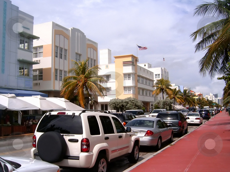 Miami Beach Strip stock photo, The Miami South Beach Strip by Todd Arena